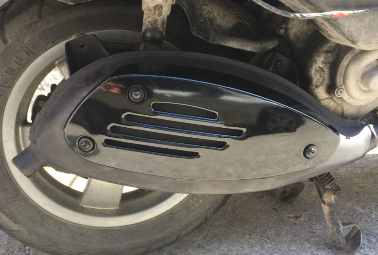 Refurbish your old rusted scooter muffler and shield cover
