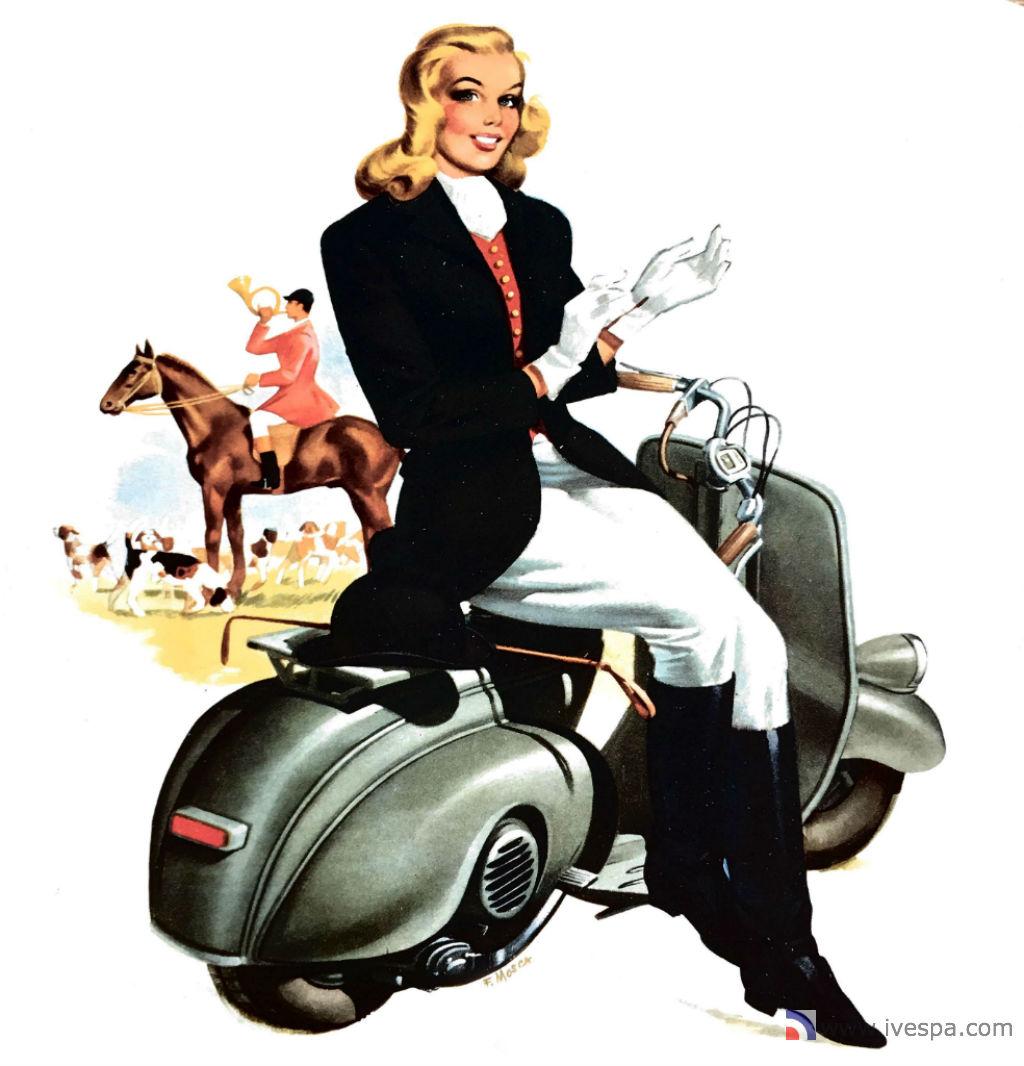 1964 Vespa Minicalendar In English May Marisa Pavan T